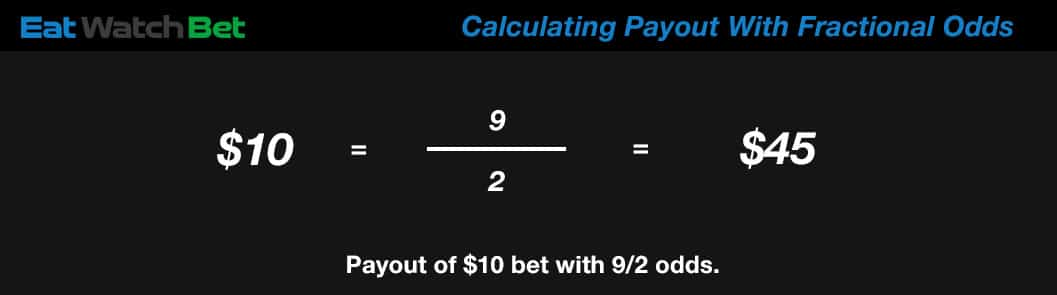 calculating payout with fractional betting odds