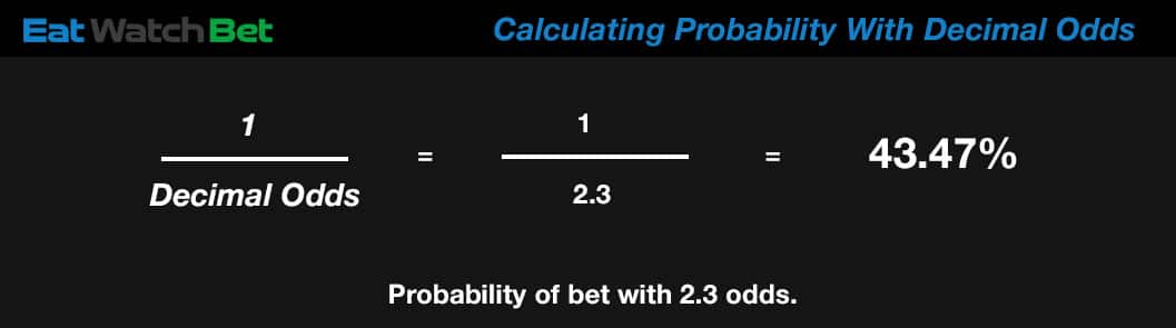calculating probability with decimal odds