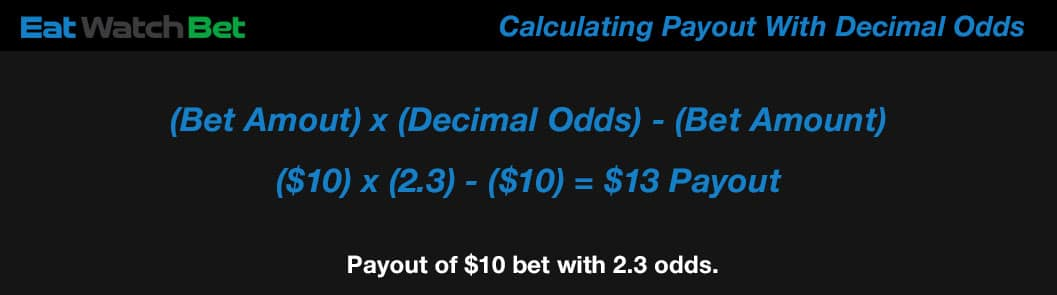 payout with decimal odds