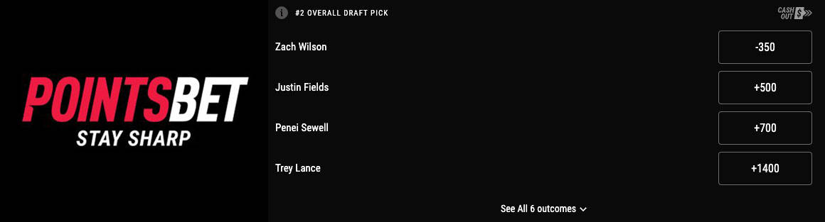 available nfl draft bets
