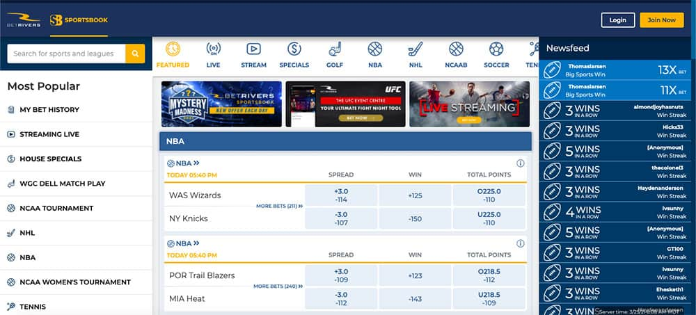 betrivers sportsbook overview