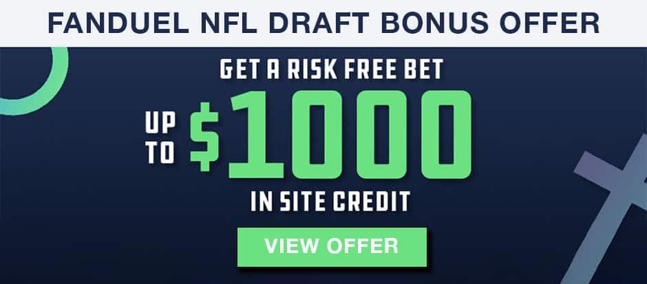 fanduel 2021 nfl draft bonus offer