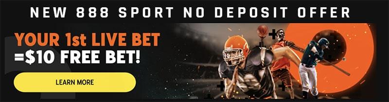 no deposit bonus offer from 888 sport