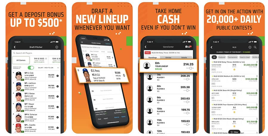 draftkings dfs app rating