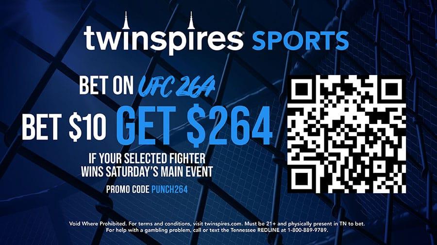 ufc 264 odds bonus