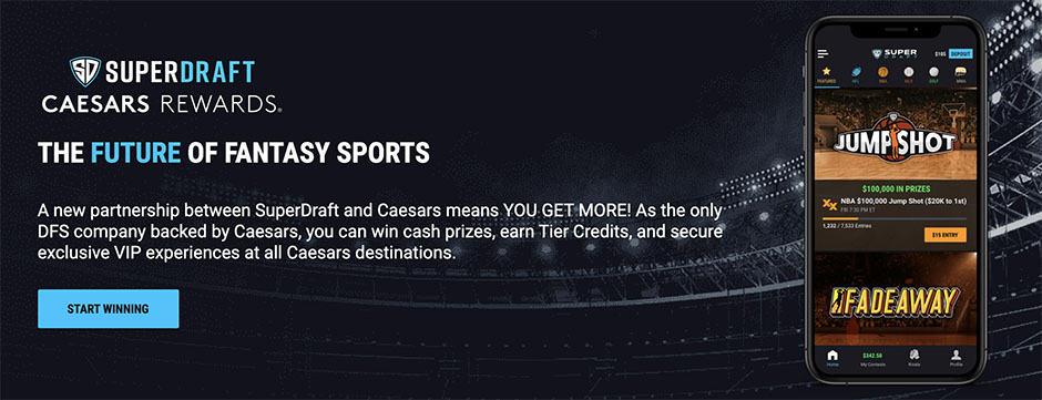 SuperDraft Players Receive Caesars Rewards