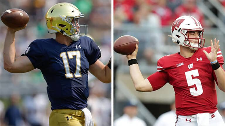 best bets and current odds for wisconsin vs notre dame
