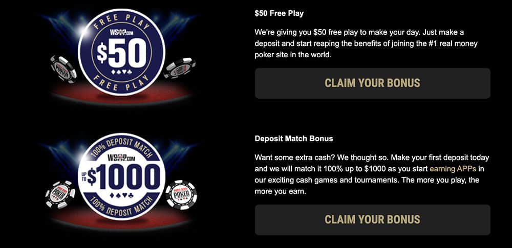 Best WSOP Welcome Offers for 2021